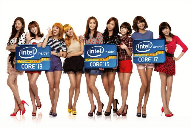 소녀시대가 인텔 광고모델이라...
