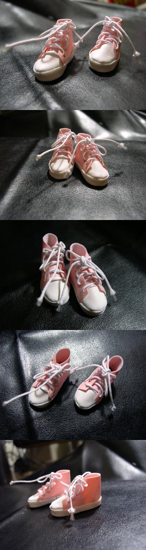 스니커즈-Pink leather