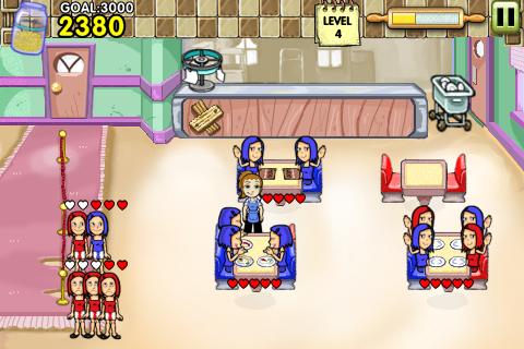 diner Dash SCREENSHOT(PS3/iPhone)