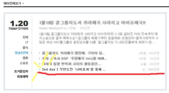 [2nd day] 무한도전 '나비효과'를 통해 본 기후..
