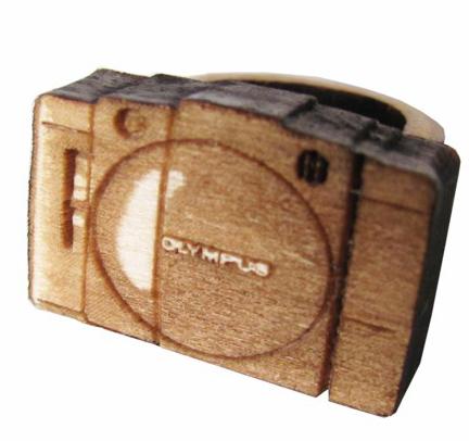 미니 Olympus 카메라 : 나무 반지