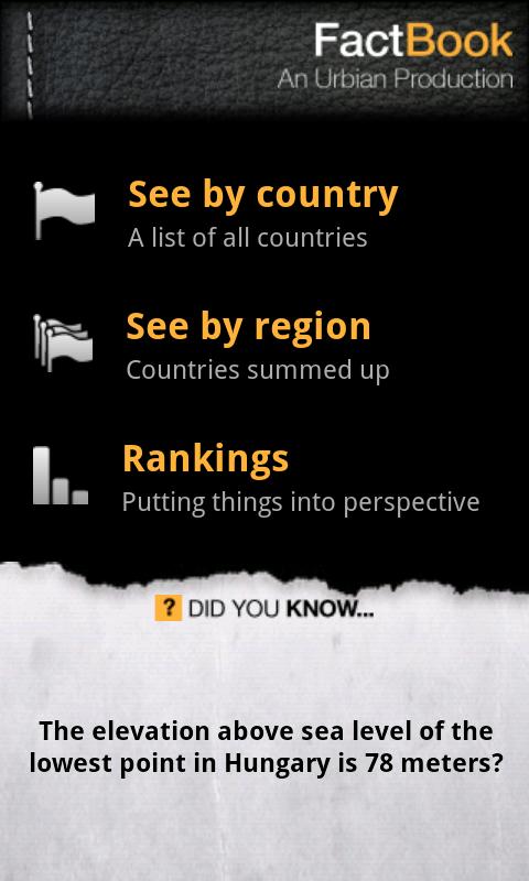 [어플소개] 우리나라에서 가장 먼나라는?  Factbook