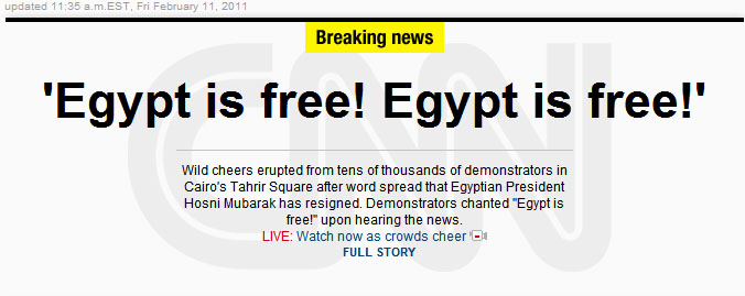EGYPT IS FREE