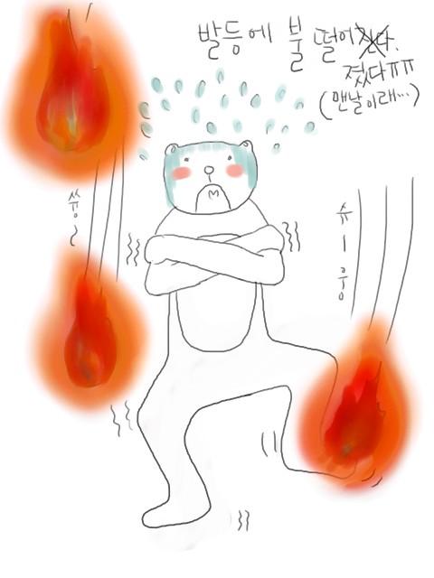 발등에 불