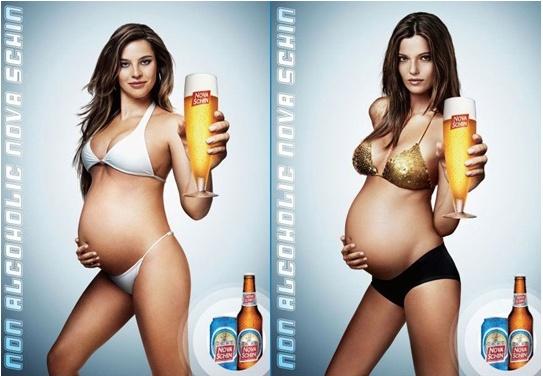 [크리에이티브]임산부를 모델로한 해외 맥주광고!!