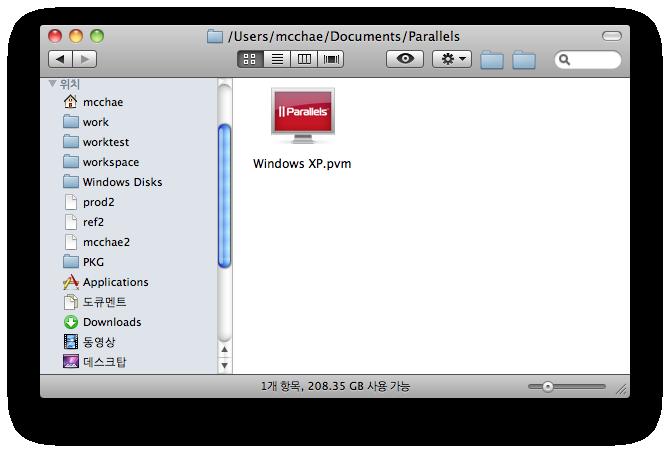 [OSX] 패러렐즈 윈도우 디스크를 맥에서 사용하기