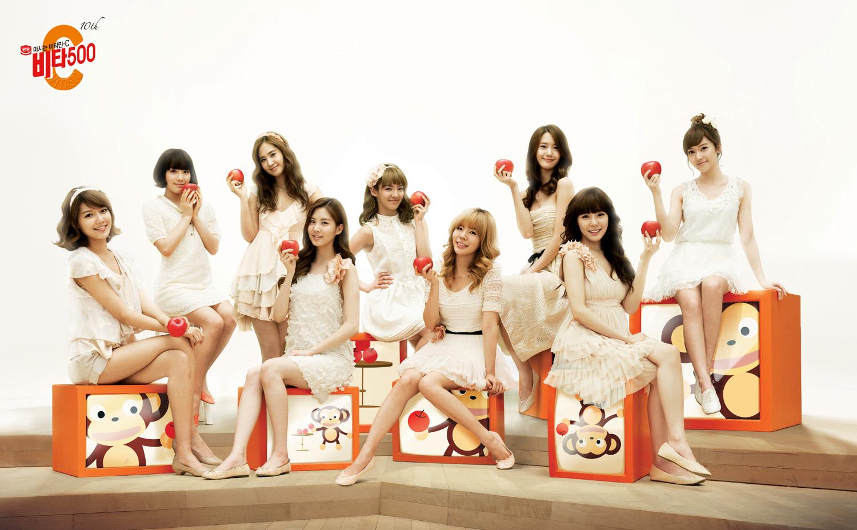 비타500 소녀시대 단체 사진 (고해상도)