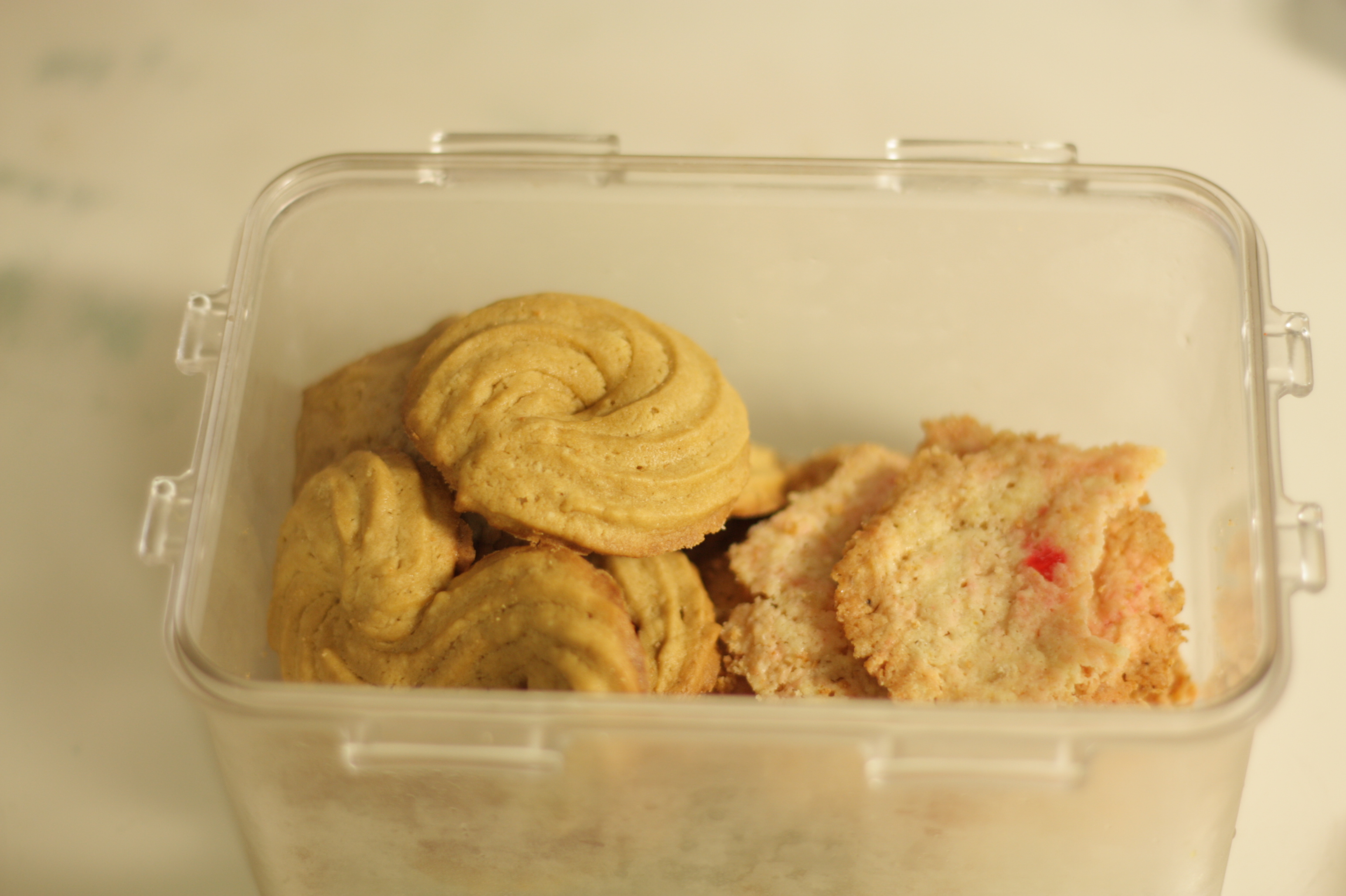 마가린으로 쿠키를 구웠다
