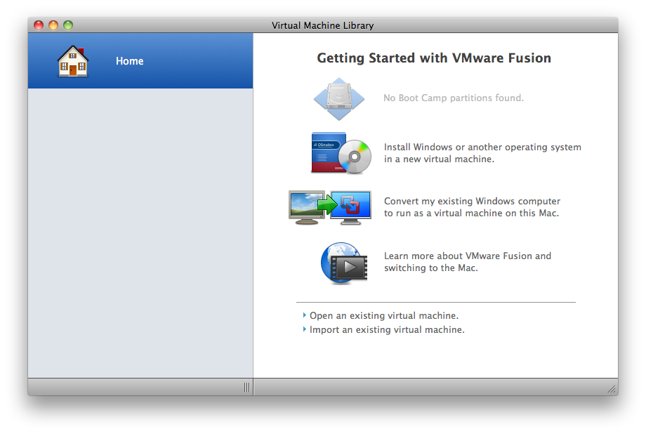 [OSX] VMWare Fusion에 Windows XP 설치