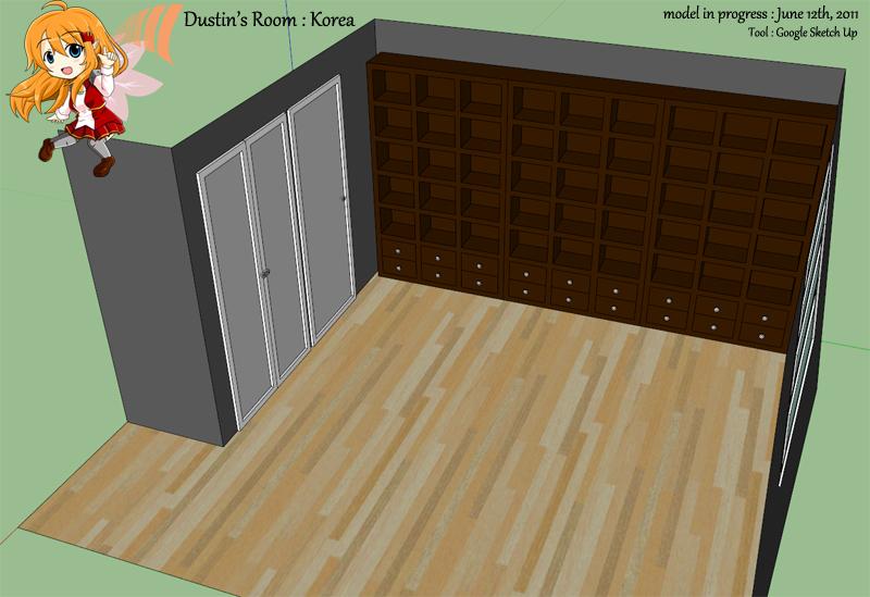 [잡담] 내 방을 3D로 그려 보았다! (Google Ske..