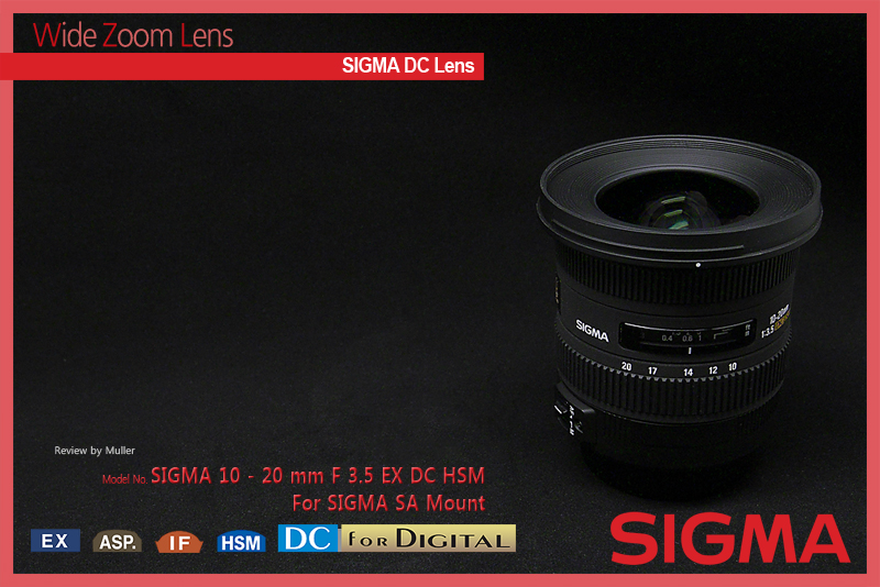 SIGMA 10-20mm F3.5 EX DC HSM for SIGMA SA M..