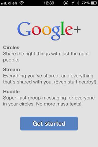 아이폰용 Google+ 가 나왔군요