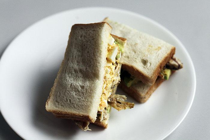 일본풍 치킨에그 샌드위치