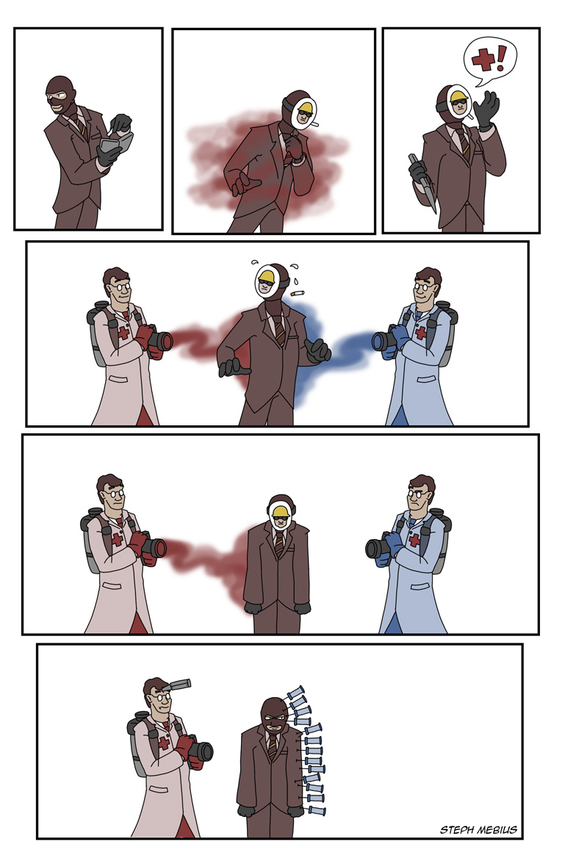 팀 포트리스2 스파이 짧은 만화