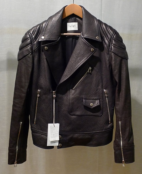 Leigh 11 f/w black leather jacket