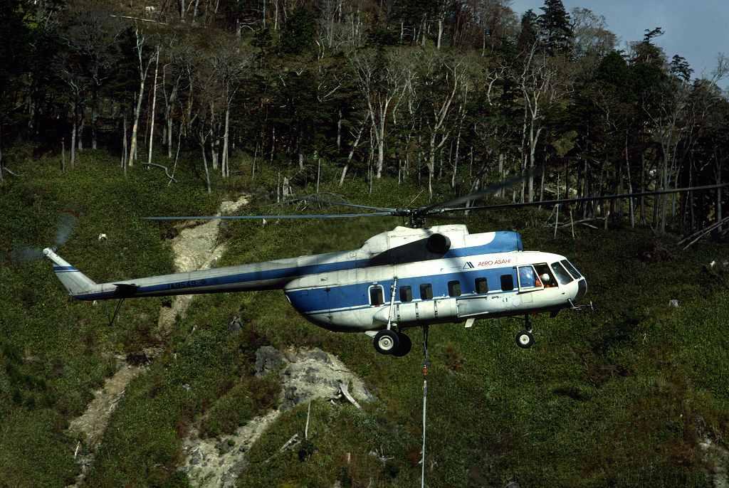 일본에서도 운용하였던 Mi-8
