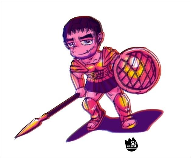 [신들의 전쟁] 신들의 전사 테세우스 팬아트 1호!..