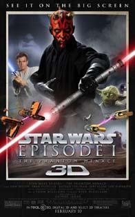 스타워즈 에피소드 1 보이지 않는 위험 3D - 미미한 3D..