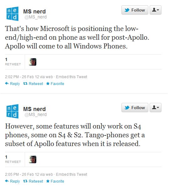 윈도폰 아폴로 업데이트에 대한 루머