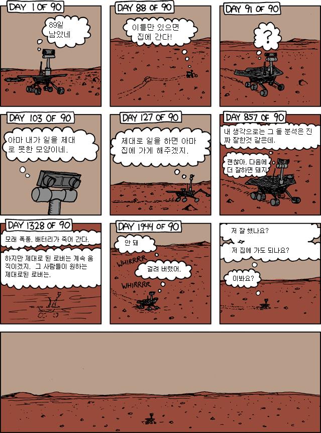 [만화 번역] xkcd 695화 스피릿