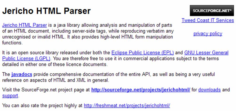 [Java] Jericho HTML Parser