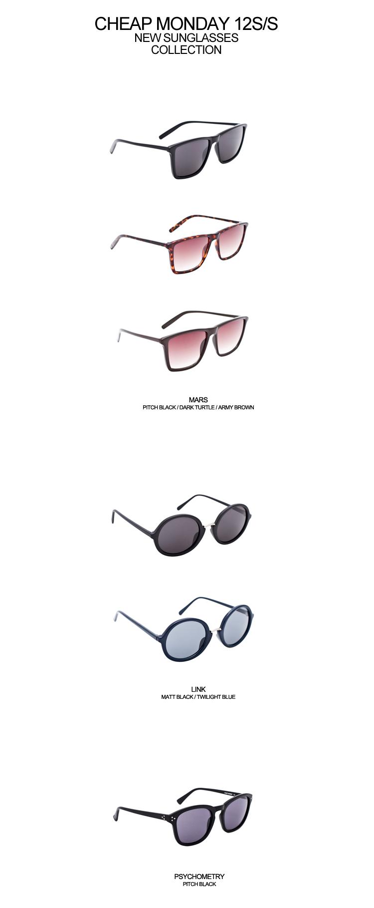 칩먼데이 Cheap Monday 12s/s new sunglasse..