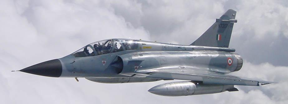 또다시 추락한 인도 공군의 미라지 2000 전투기