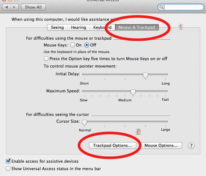 osx 10.7 라이언에서 더블탭-드래그 되살리기
