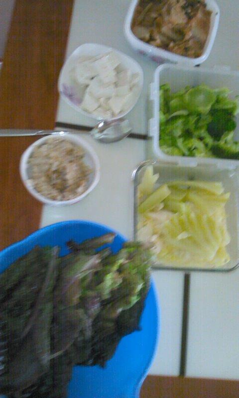 상추 브로콜리 양배추 김치 두부다이어트 점심식사