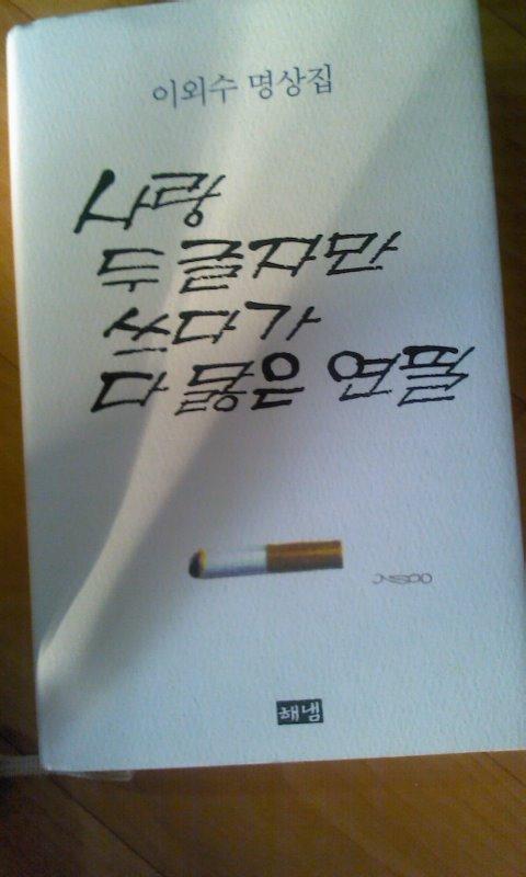 이외수명상집 사랑 두글자만 쓰다가 다 닳은 연필