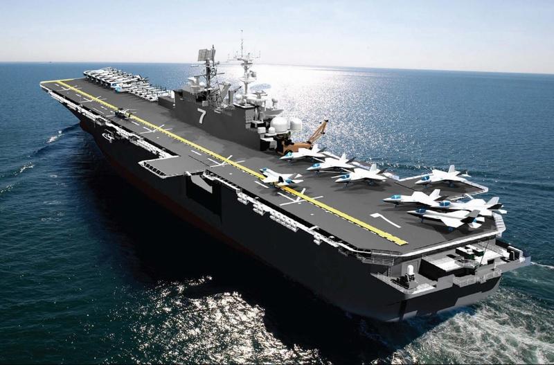 신형 강습상륙함 USS 트리폴리를 발주한 미 해군