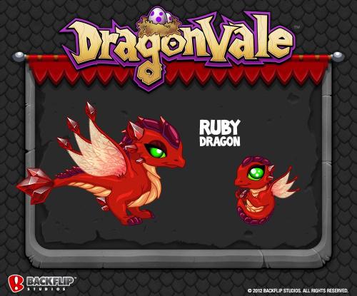 드래곤베일 dragonvale 루비드래곤