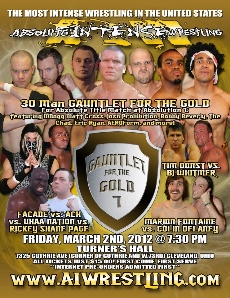AIW 2012.03.22 Gauntlet for the Gold 7 리뷰