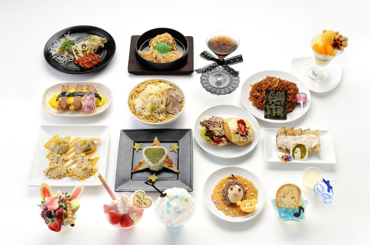 남코 난쟈 타운, 아이돌마스터 제휴 음식 메뉴 사진