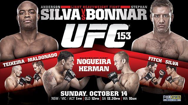 UFC 153 결과 ! (앤더슨 실바 vs. 스테판 보너)