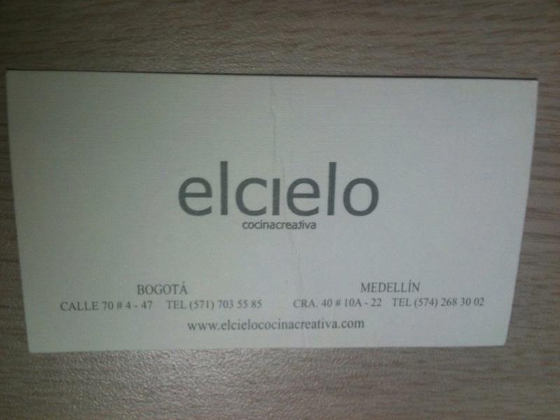 [콜롬비아] 천상의 분자요리, 엘 씨엘로(El Cie..