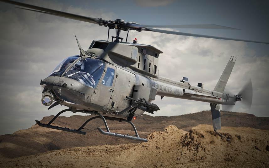 첫번째 OH-58F 시제헬기를 완성한 미 육군
