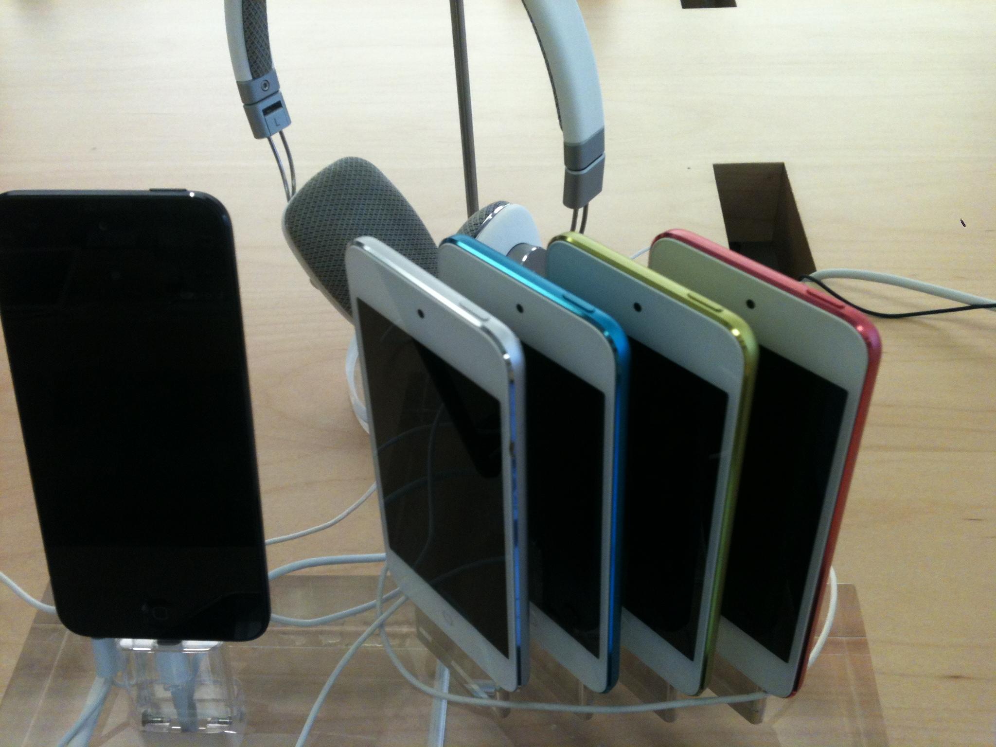 애플 뉴 아이팟 터치 5세대, 나노 7세대, 셔플 8세..