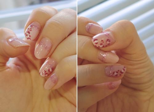 이달의 젤네일 - 핑크 레오파드