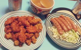 집에서 밖에서 먹고 마시기.