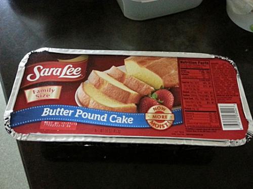 내 꿈에드림 음식이었던 사라리버터파운드케이크.