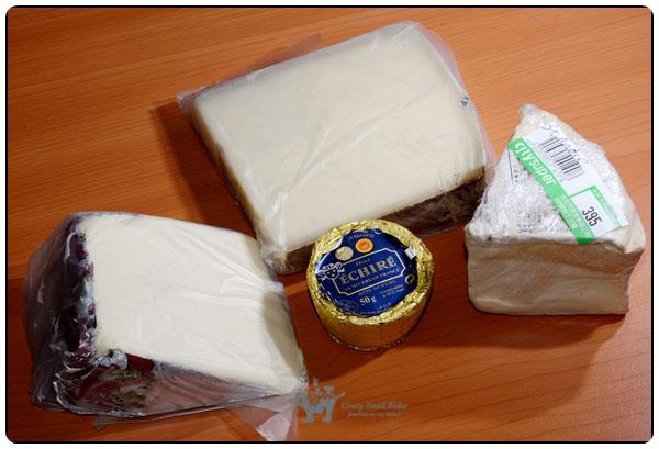 오늘의 쇼핑 치즈 3종과 카야 잼