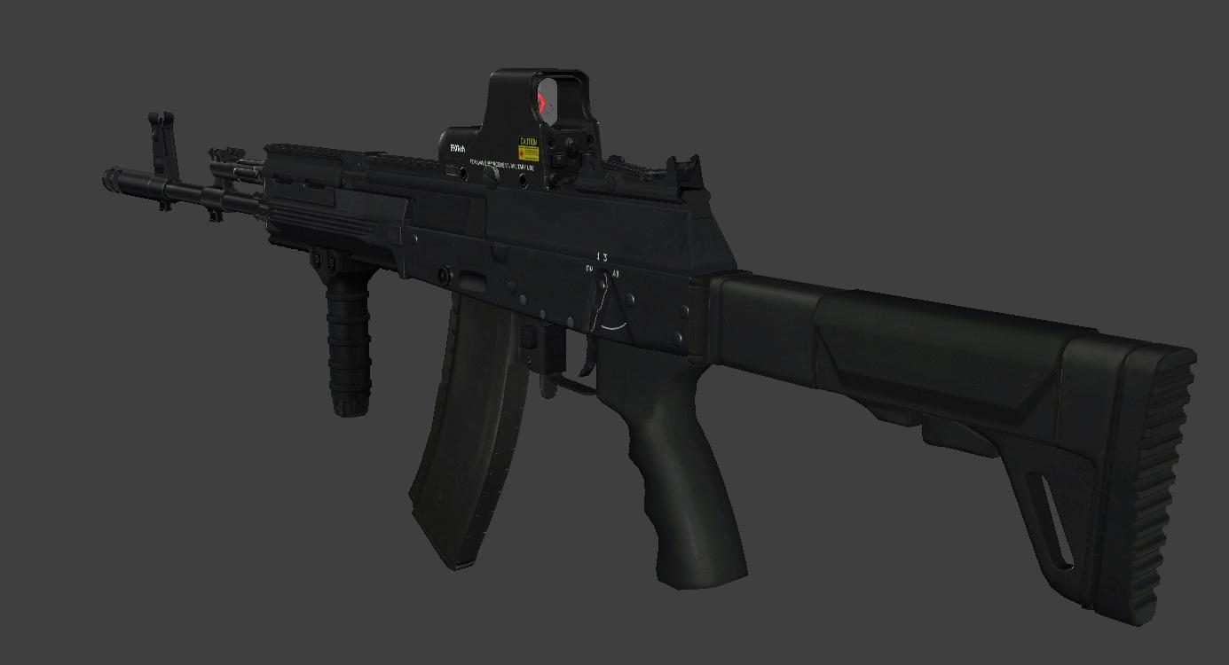 AK-12 고화질 렌더링.Rus