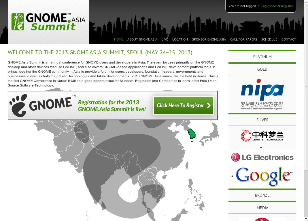 GNOME Asia Summit 2013이 곧 열립니다! (2013/05/24 ~..