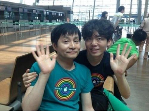 김조광수, 김승환과 커플룩