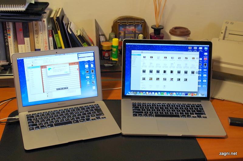 맥북에어 vs 맥북프로 레티나, 당신의 선택은?