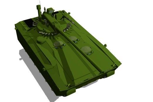 152mm 쿠르가네츠 기반 자주포 3d 모델
