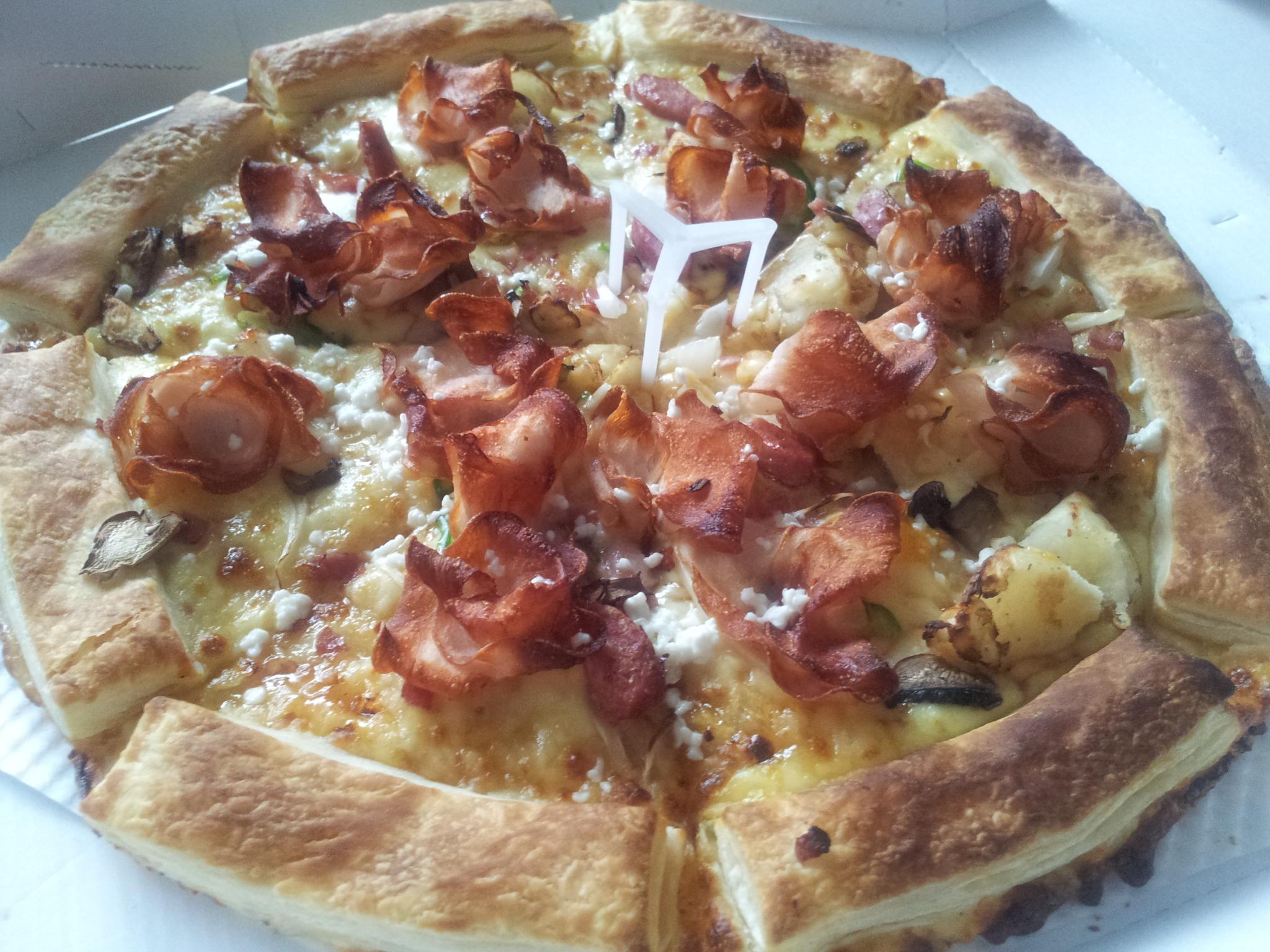 은호네먹방)도미노 더블크러스트 페스츄리 피자