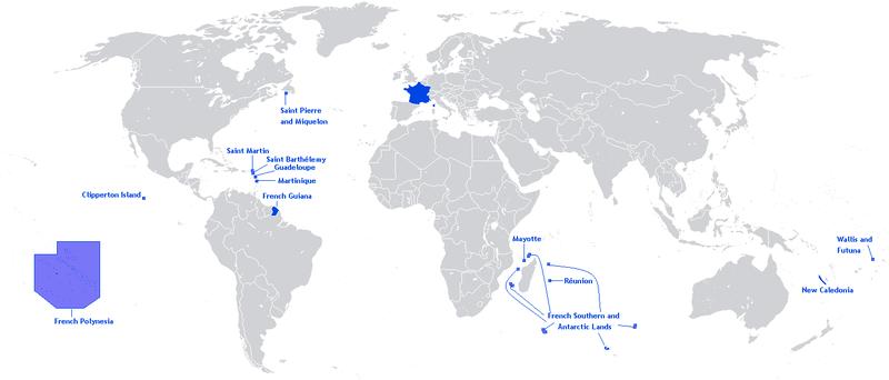 영국과 프랑스의 해외 영토, 그리고 남극