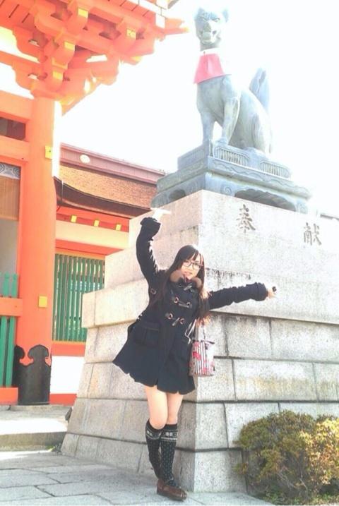 성우 야마오카 유리 & 타네다 리사, 교토 관광 사진 ..